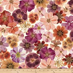 Benartex Floral Impressions Cream Magenta from @fabricdotcom  Designed by Kanvas in association with Benartex, this cotton print collection features beautiful floral and is perfect for quilting, apparel, and home decor accents. Colors include cream, burgundy, brown, pink, gold and white.