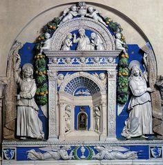 Andrea della Robbia e collaboratore, Tabernacolo del Sacramento, 1512. Firenze, Santi Apostoli