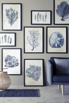 interior-design-home: Blue gallery wall ( HID )