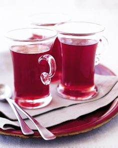 Rosy cranberry cider, from Martha Stewart