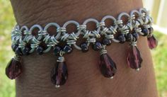 White and Purple Japanese Style Chainmaille by kaziskornukopia, $35.00