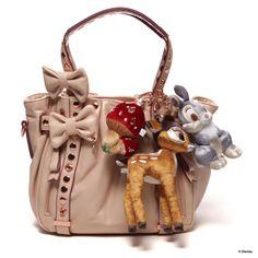 Samantha Samantha Thavasa Disney Collection Bambi small Aimi (Pink Beige)