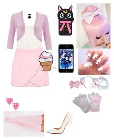 """""""Mystreet: Kawaii~Chan~!"""" by animeloverx3 ❤ liked on Polyvore featuring The Row, Carven, Monsoon and Christian Louboutin"""