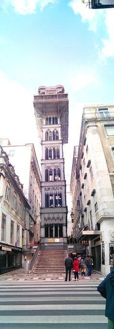Elevador Lisbon Map, Gustave Eiffel, Street View, Elevator, Skinny