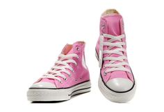 Converse Shoes Pink Chuck Taylor All Star Classic Womens/Mens Canvas Hi Sneakers