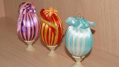 Пасхальные яйца, декорированные лентами (видео мастер-класс)