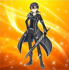 Wolf Swordsman Alternative( Sword Art OnlineOnline Oc x Philia) - Chapter 3 Warming Friendship Sword Art Online Manga, Sword Art Online Kirito, Arte Online, Online Art, Fantasy Characters, Anime Characters, Kirito Sao, Black And Gold Watch, Fate/stay Night