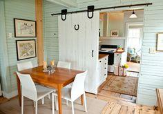Kitchen Barn Door Farmhouse