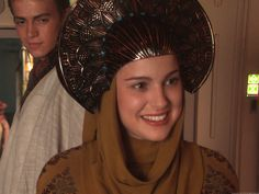 I love the thing on her head :) And Anakin is so cute. Episode II.