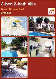 3-bed 2-bath Villa in Denia, Alicante, Spain ►€275,000 #PropertyForSaleInSpain