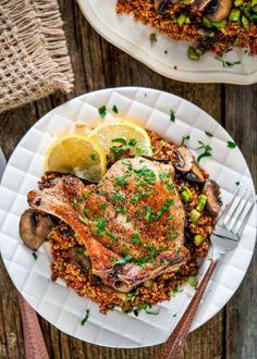 grilled pork chops with quinoa asparagus and mushroomsReally  Mein Blog: Alles rund um die Themen Genuss & Geschmack  Kochen Backen Braten Vorspeisen Hauptgerichte und Desserts # Hashtag
