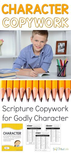 Scripture copywork to help instill Godly character in children. Bible Study For Kids, Kids Bible, Character Education, Character Development, Physical Education, Homeschool Curriculum, Homeschooling Resources, Homeschooling Statistics, Catholic Homeschooling