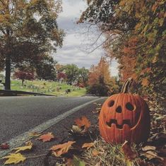Pumpkin lantern crisp leaves Halloween and autumn. Fröhliches Halloween, Holidays Halloween, Vintage Halloween, Halloween Decorations, Halloween Photos, Pumpkin Decorations, Halloween Season, Country Halloween, Halloween Backdrop