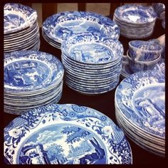 spode | blue italian | habitually chic