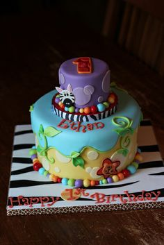 Safari party themed cake by Andrea's SweetCakes, via Flickr