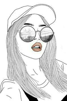 cute drawings black and white cute cartoon girl drawing white - cute cartoon girl drawing Tumblr Outline Drawings, Tumblr Girl Drawing, Hipster Drawings, Girl Drawing Sketches, Cute Girl Drawing, Cartoon Girl Drawing, Girl Sketch, Cartoon Drawings, Easy Drawings