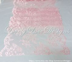 Hey, I found this really awesome Etsy listing at https://www.etsy.com/listing/231840729/wedding-decor-pink-lace-table-runner-5ft