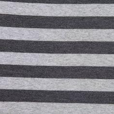 Heathered Gray Striped Jersey - Jersey Prints - Jersey/Knits - Fashion Fabrics
