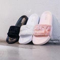 4ecd4b8fc0ab Rihanna x Puma Fenty Fur Leadcat Slides - Available Now Fenty Fur Slides