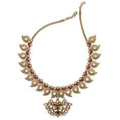 Saffronart Fine Jewels and Silver, A DIAMOND AND RUBY 'MANGA MALAI' NECKLACE, Period Indian Jewelry