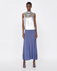 Shopping basket - ZARA United Kingdom Zara United Kingdom, Lace Skirt, Dress Up, Spring Summer, Sequins, Dresses For Work, Chic, My Style, Tops