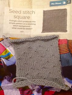 Issue 21 - Seed stitch square