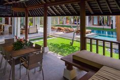 Bali Villa Photography - pool views from the entertainment bale