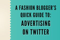Advertising on Twitter: Super simple and could effective for your blog