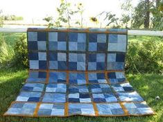 Seth's denim quilt (quilt as you go method)