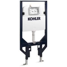 KOHLER Veil Dual-Flush High-Efficiency Toilet Tank at Lowe's. This dual-flush in-wall toilet tank and carrier completes the Veil Intelligent wall-hung toilet. Designed with a large, easy-access actuator plate Lowes Home Improvements, Home Depot, Kohler Memoirs, Wall Hung Toilet, Toilet Bowl, All Modern, Steel Frame, Polished Chrome