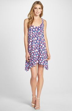 Lilly+Pulitzer®+'Monterey'+Print+Cotton+Cutout+Trapeze+Dress+available+at+#Nordstrom