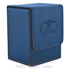 Ultimate Guard Deck Box Flip Deck Box - Leather Dark Blue (100) MINT