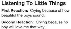 third: you get fangirl feelings that you've never felt before, and you don't know what to about them, so you just cry.