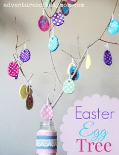 Find more information on cute Easter craft Easter Arts And Crafts, Easter Crafts For Kids, Easter Ideas, Easter Tree, Easter Eggs, Homemade Ornaments, Homemade Christmas, Dough Ornaments, Diy Ornaments