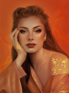 Leo by Zaid Dibis Digital Art Girl, Digital Portrait, Portrait Art, Zodiac Art, Leo Zodiac, Zodiac Signs, Astrology Leo, Capricorn Art, Character Portraits