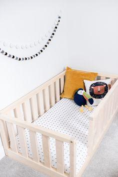 US Full Size Montessori toddler Frame bed Wood Kids Baby bed Nursery bed Platform bed Children furniture, bed frame