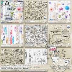 LIGHT AND SHADE : FLOWER GARDEN COLLECTION (Incl FWP BRUSHES AND STAMPS)  By Studio Dawn at Scrapbookgraphics http://shop.scrapbookgraphics.com/Light-and-Shade-Flower-Garden-Collection-incl-FWP-Brushes-and-Stamps.html