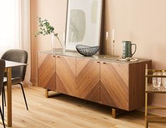 Aiming for timeless ambiances in your living room we bring you our picks for the top exclusive cabinets that really blur the line between vintage and contemporary. Decor, Sideboard Decor, Furniture, Interior, Living Room Cabinets, Home Decor, Console Table Decorating, Interior Design, Modern Home Bar