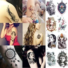 Large sexy  Waterproof Colorful Temporary Tattoo Body Arm Art Sticker Removable #UnbrandedGeneric