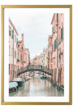 Venice Art Print - Canal Bridge #1 Italy Print 527 Photo. Aesthetic Art, Aesthetic Pictures, Pastel Home Decor, Pastel House, Travel Wall Art, Italy Art, Thing 1, Unique Wall Art, Pastel Art