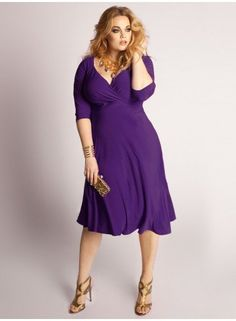 Francesca Plus Size Dress in Amethyst at www.curvaliciousclothes.com #plussize #curvy #fashion