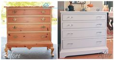 This is an awesome update to a dresser!  She gives complete instructions on how to do this too. Completely changes the look of the piece.