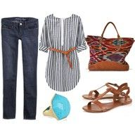 casual wear...loving the accessories