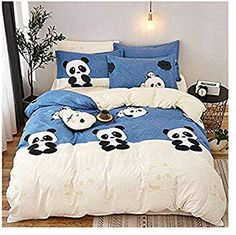 Lovely Panda Printed Polyester Bedding Sets Bed Cover Set Duvet Cover Flat Sheets with Pillowcases Bedcover Set for Child & Kid Cute Bedding, Duvet Bedding Sets, Girl Bedding, Bed Cover Sets, Bed Covers, Bedroom Themes, Bedroom Decor, My New Room, Luxury Bedding