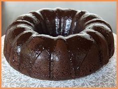 Red wine and chocolate bundt cake