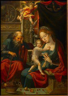 Pieter Coecke van Aelst (Netherlandish, 1502–1550) | Holy Family | ca. 1530 - 1535 | M - Museum Leuven. © KIK-IRPA, Brussels.