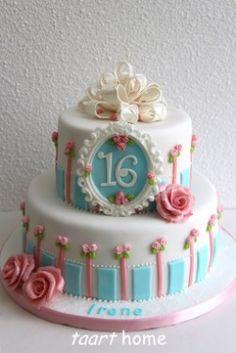 sweet sixteen taart Sweet sixteen taart | taarten | Pinterest | Sweet and Sweet sixteen sweet sixteen taart