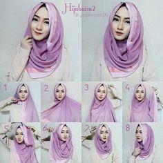 Hijab Tutorials Archives - Page 3 of 22 - Hijab Fashion Inspiration Tutorial Hijab Modern, Tutorial Hijab Pesta, Square Hijab Tutorial, Hijab Style Tutorial, Stylish Hijab, Modern Hijab, Hijab Chic, Hijab Fashion Inspiration, Style Inspiration