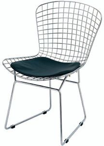4 BERTOIA style wire dining modern knoll chair