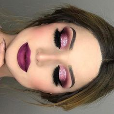 This look are so #gorgeous #purple #red #makeup #look